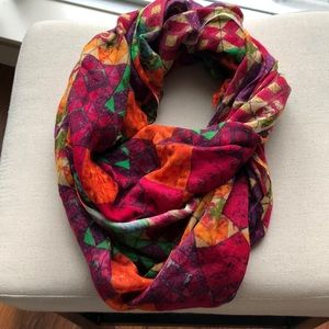Anthropologie Multi color Infinity Scarf